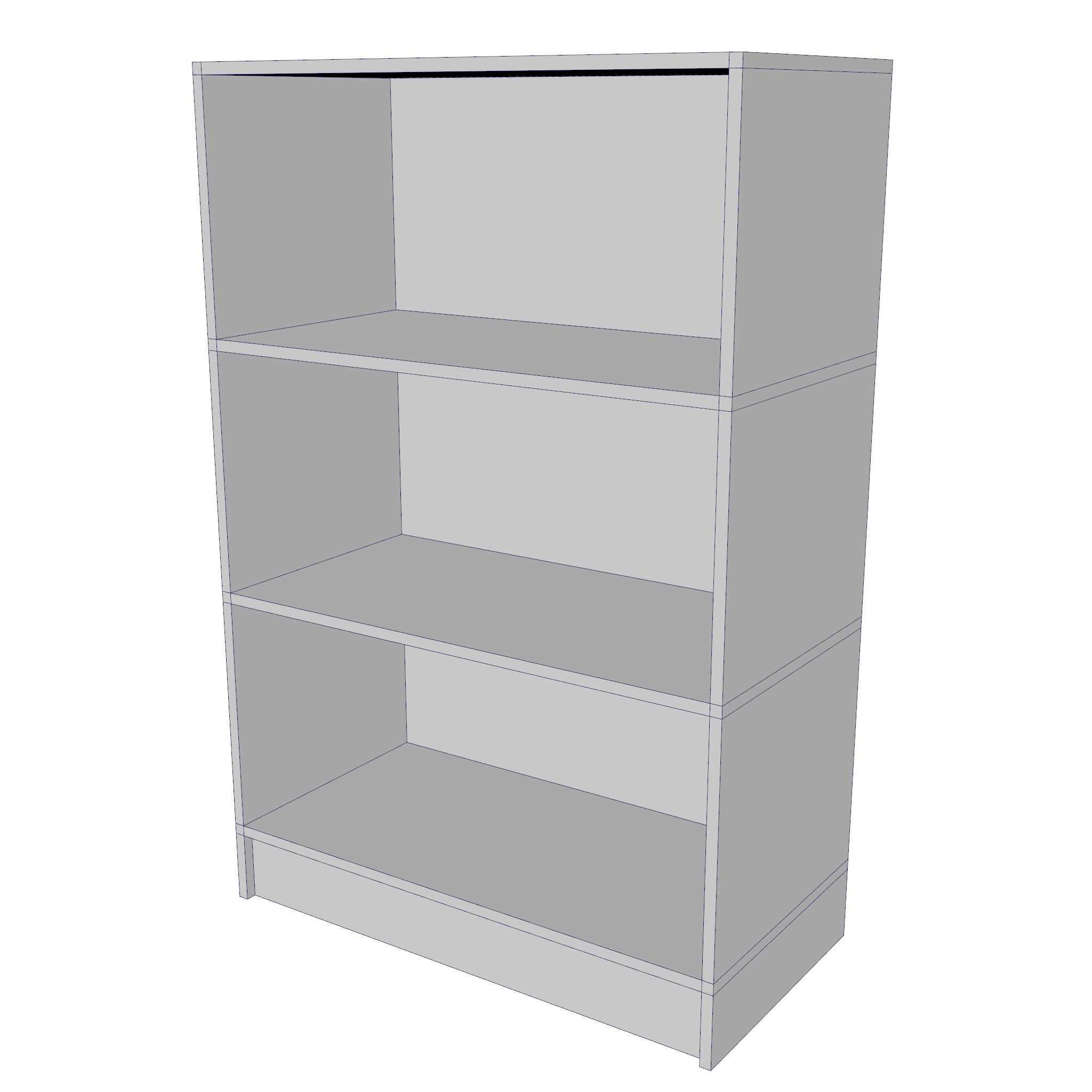 bookcase – two sizes 3d model 3ds fbx ma mb obj 271545