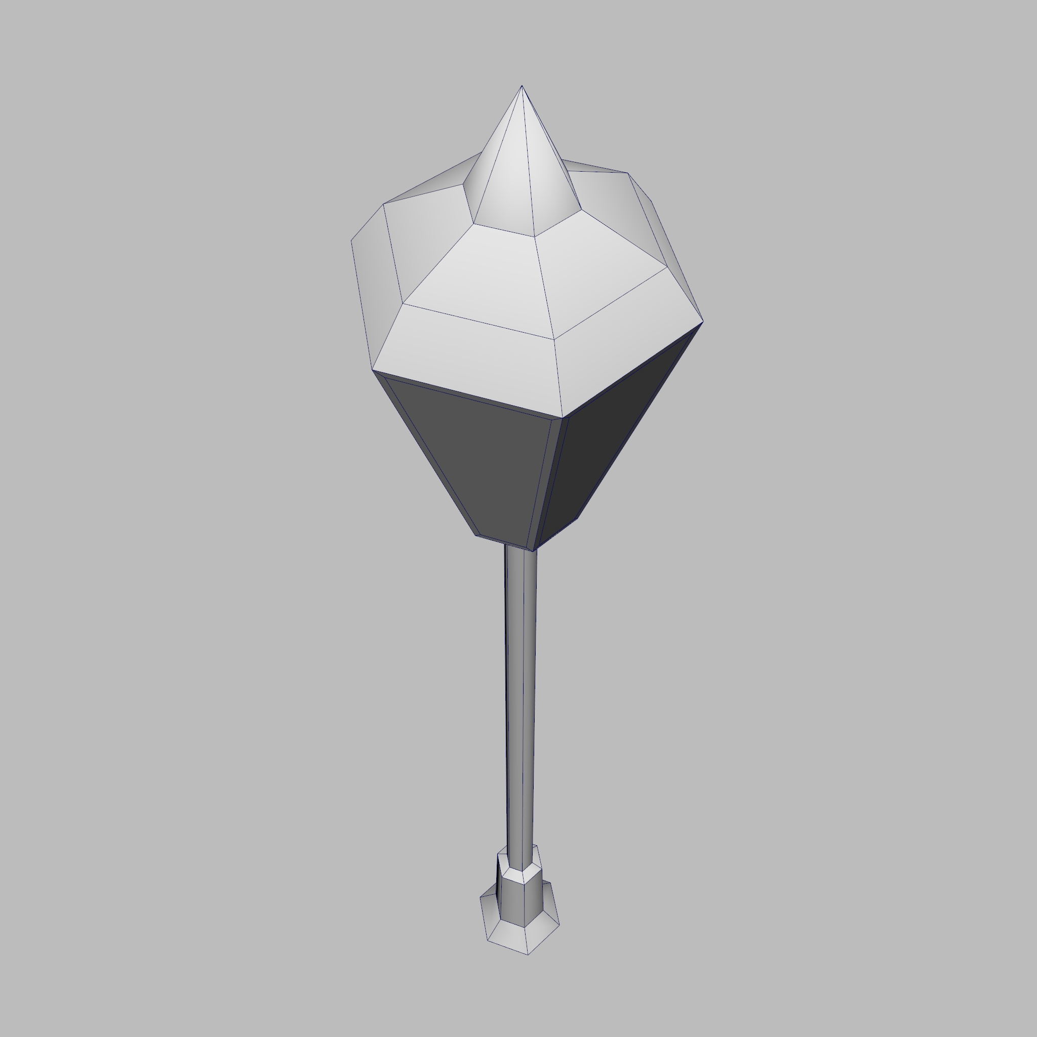model 3d lamppost rendah poli 3ds fbx ma mb obj 271553