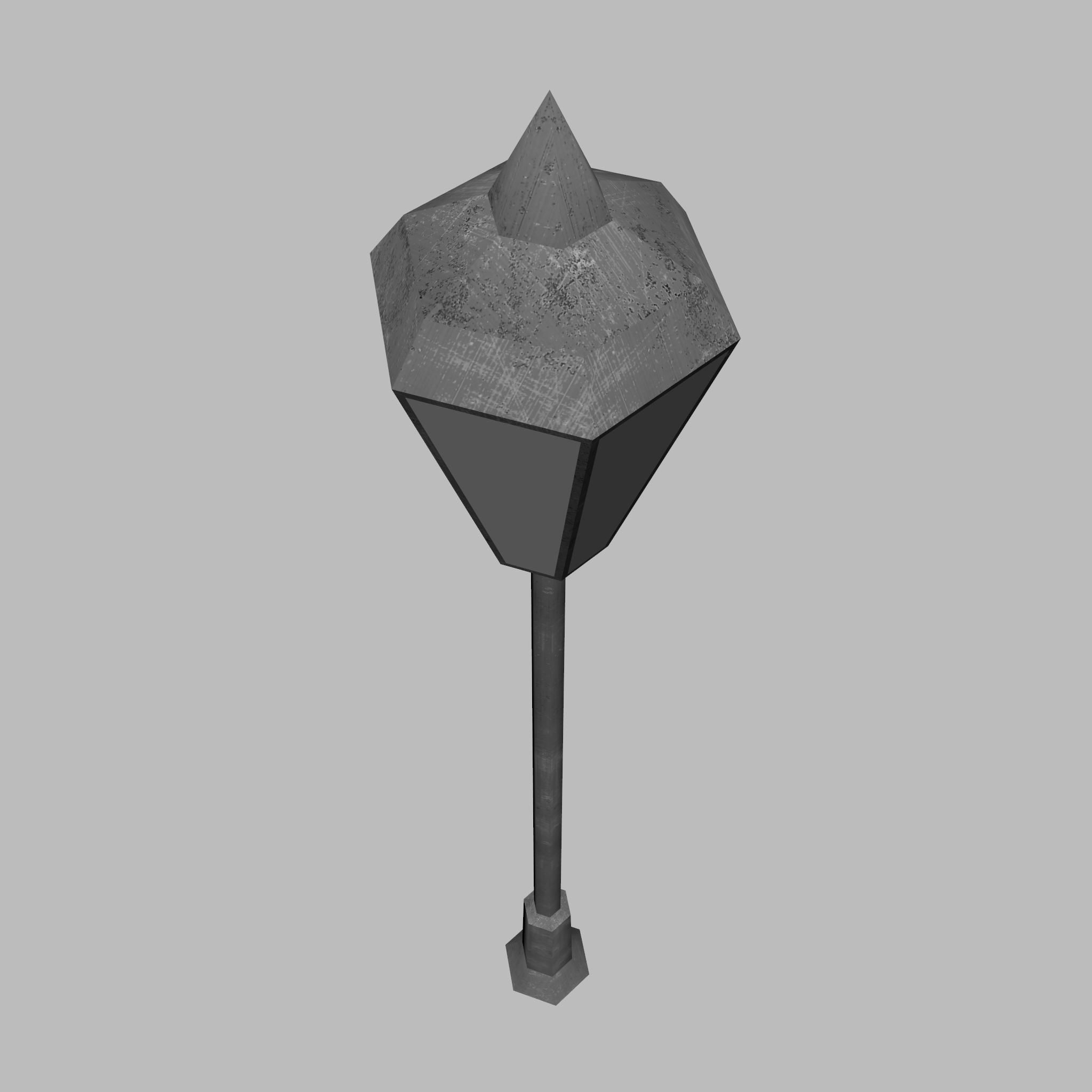 model 3d lamppost rendah poli 3ds fbx ma mb obj 271554