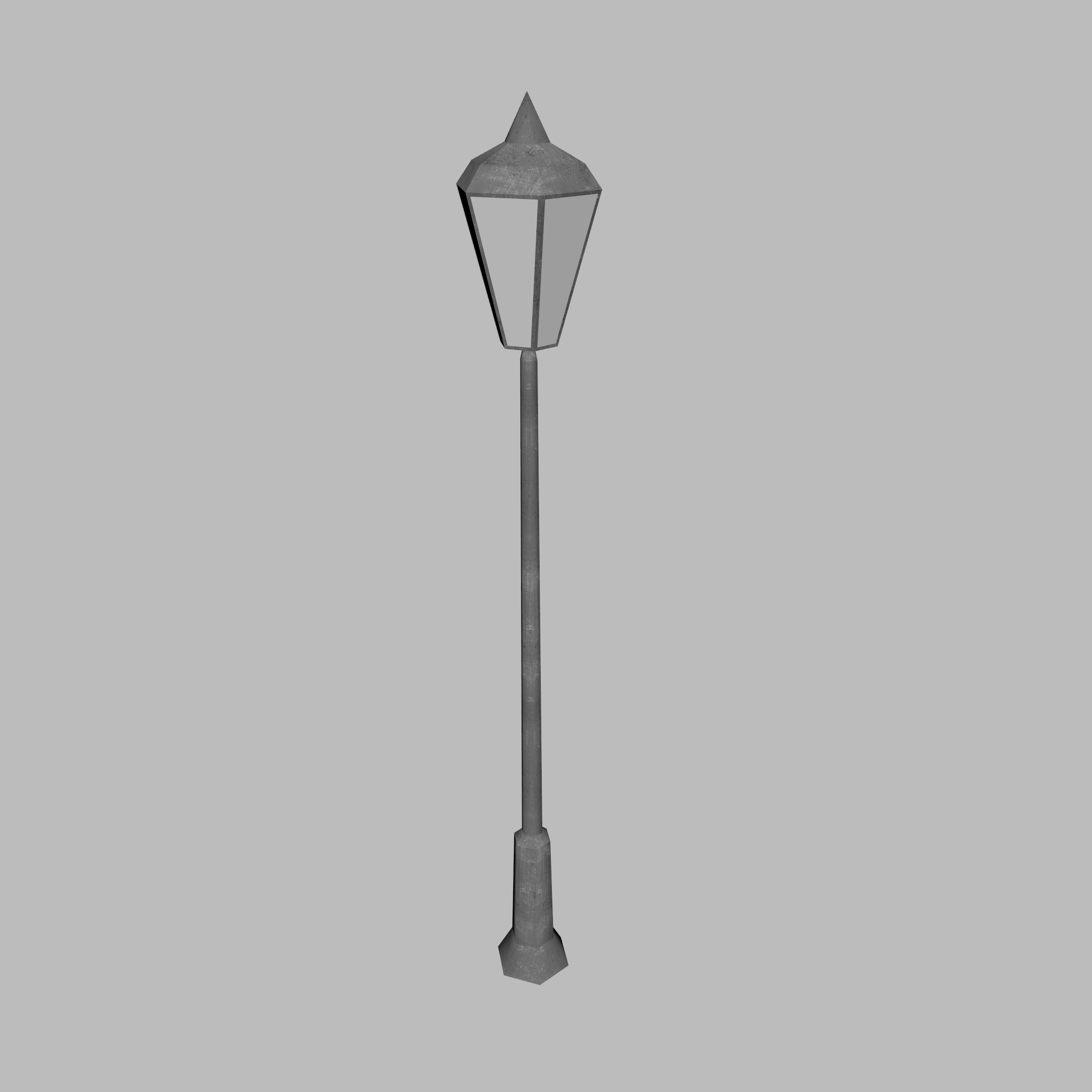model 3d lamppost rendah poli 3ds fbx ma mb obj 271556