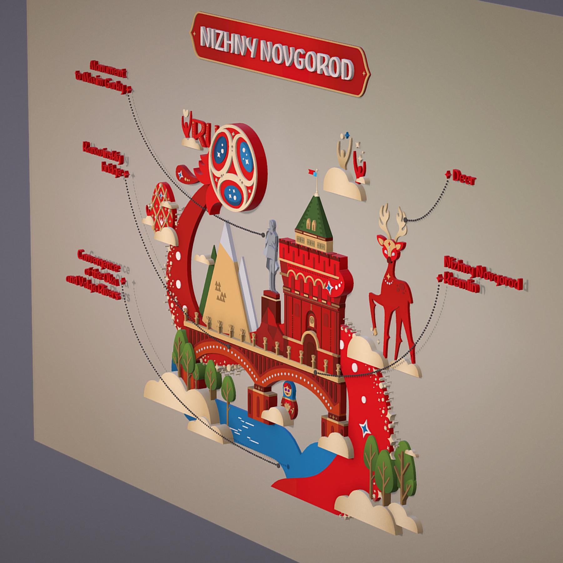 world cup 2018 russia host city novgorod 3d model max  fbx jpeg jpg ma mb obj 271571