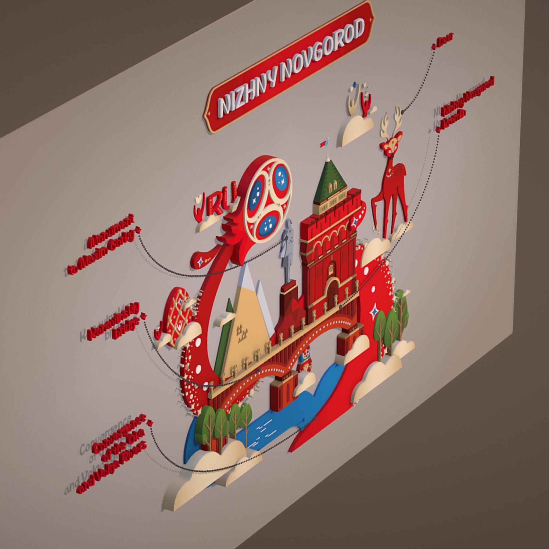 world cup 2018 russia host city novgorod 3d model max  fbx jpeg jpg ma mb obj 271573