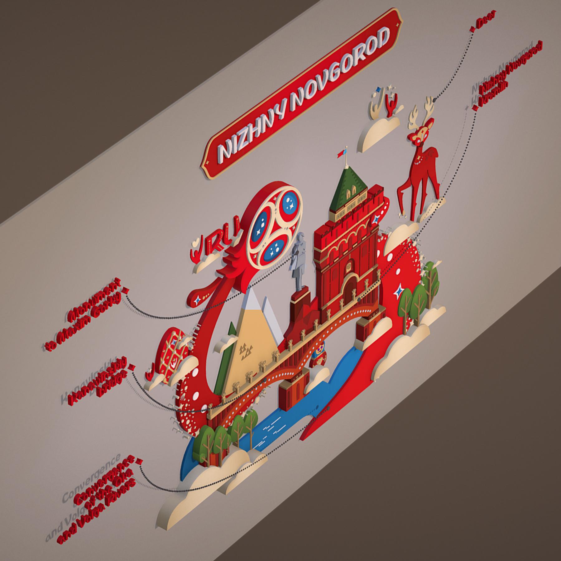 world cup 2018 russia host city novgorod 3d model max  fbx jpeg jpg ma mb obj 271574