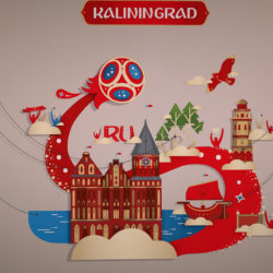 FIFA world cup 2018 Russia host city KALININGRAD 3d model 0
