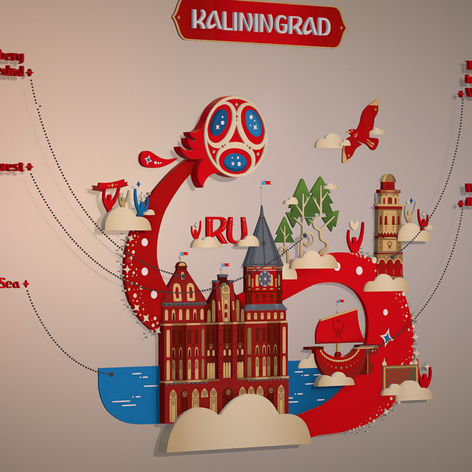 fifa world cup 2018 russia host city kaliningrad 3d model max  fbx jpeg jpg ma mb obj 271603