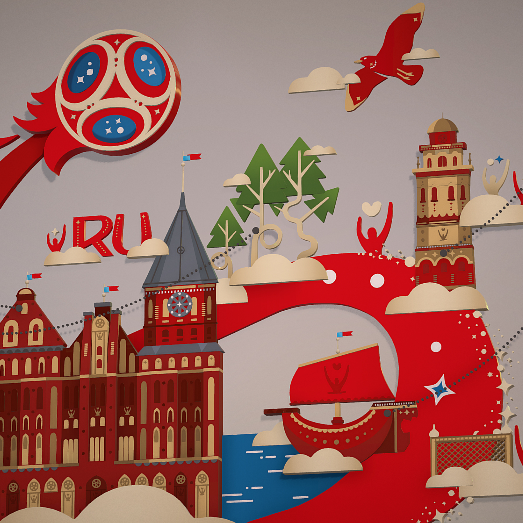 fifa world cup 2018 russia host city kaliningrad 3d model max  fbx jpeg jpg ma mb obj 271620