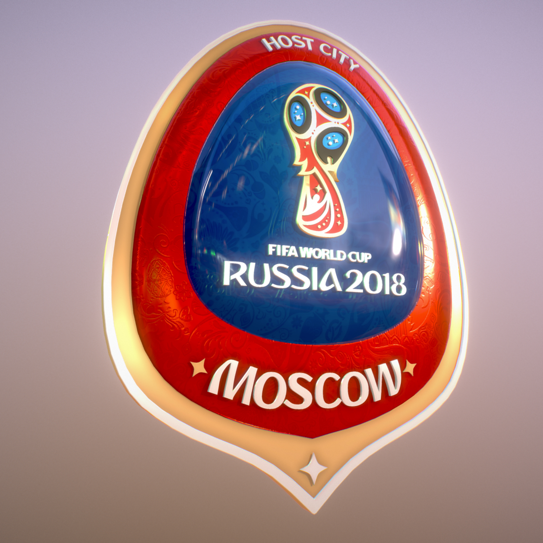 Moscow Host City World Cup Russia 2018 Symbol 3D Model