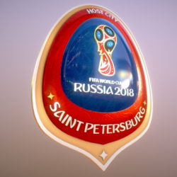 Saint-Petersburg Host City Russia 2018 Symbol 3d model 0