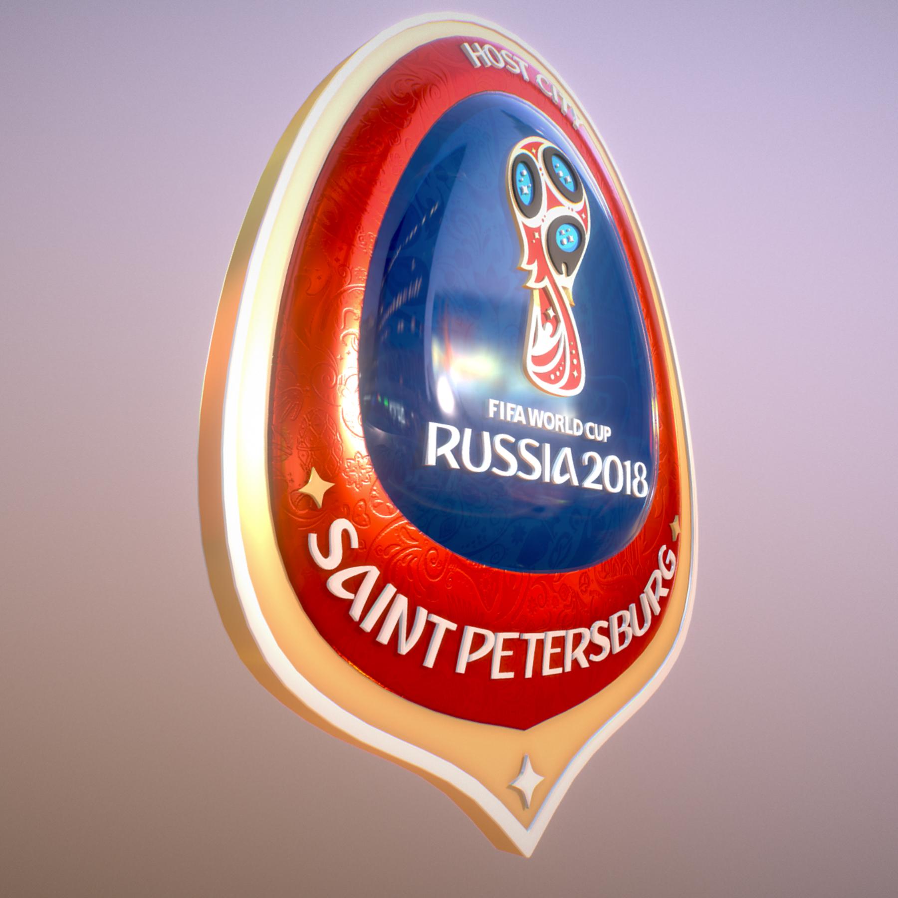 saint-petersburg host city russia 2018 symbol 3d model max  fbx jpeg jpg ma mb obj 271669
