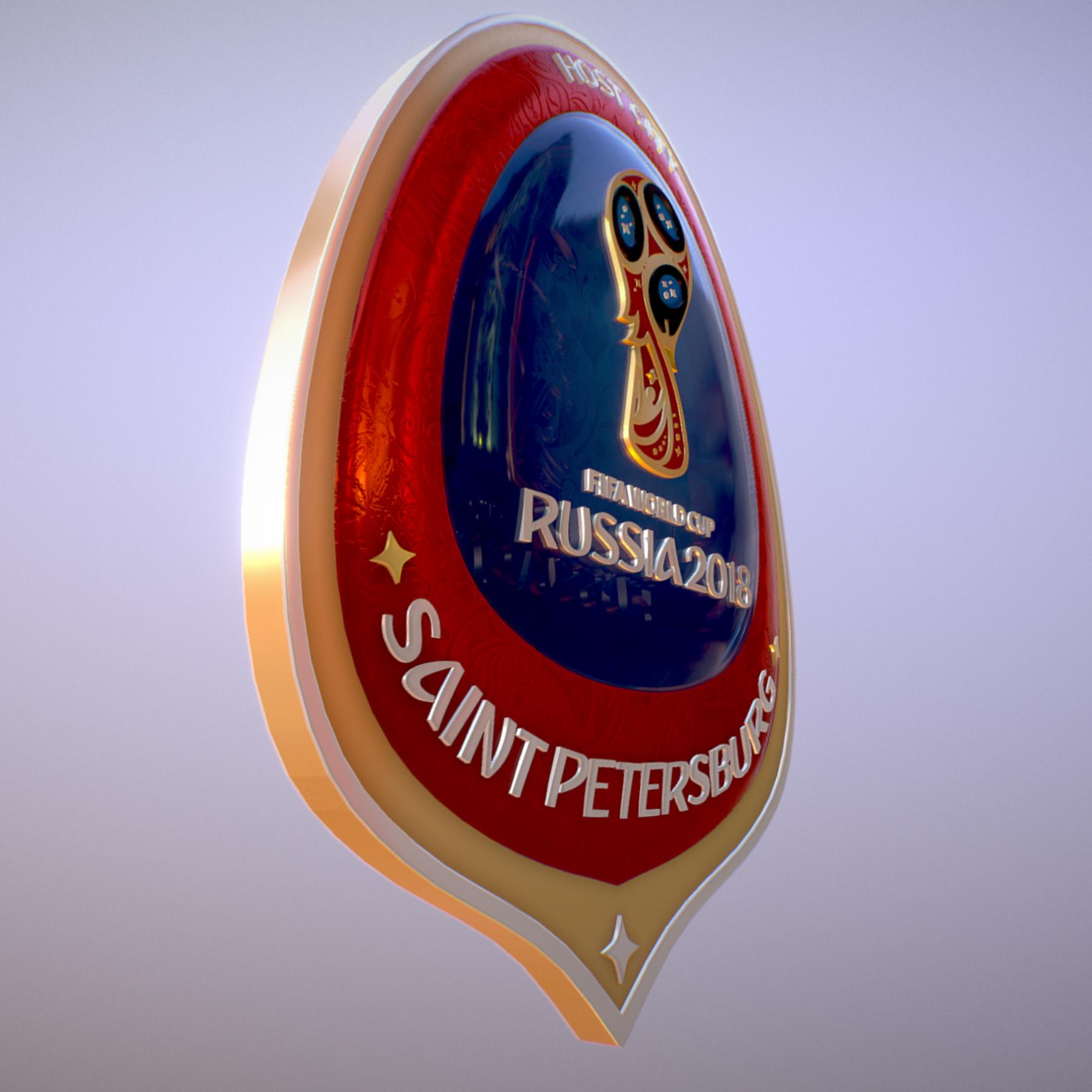 saint-petersburg host city russia 2018 symbol 3d model max  fbx jpeg jpg ma mb obj 271672