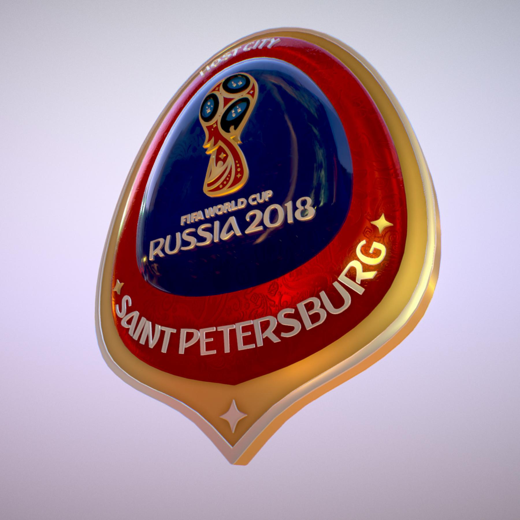 saint-petersburg host city russia 2018 symbol 3d model max  fbx jpeg jpg ma mb obj 271677