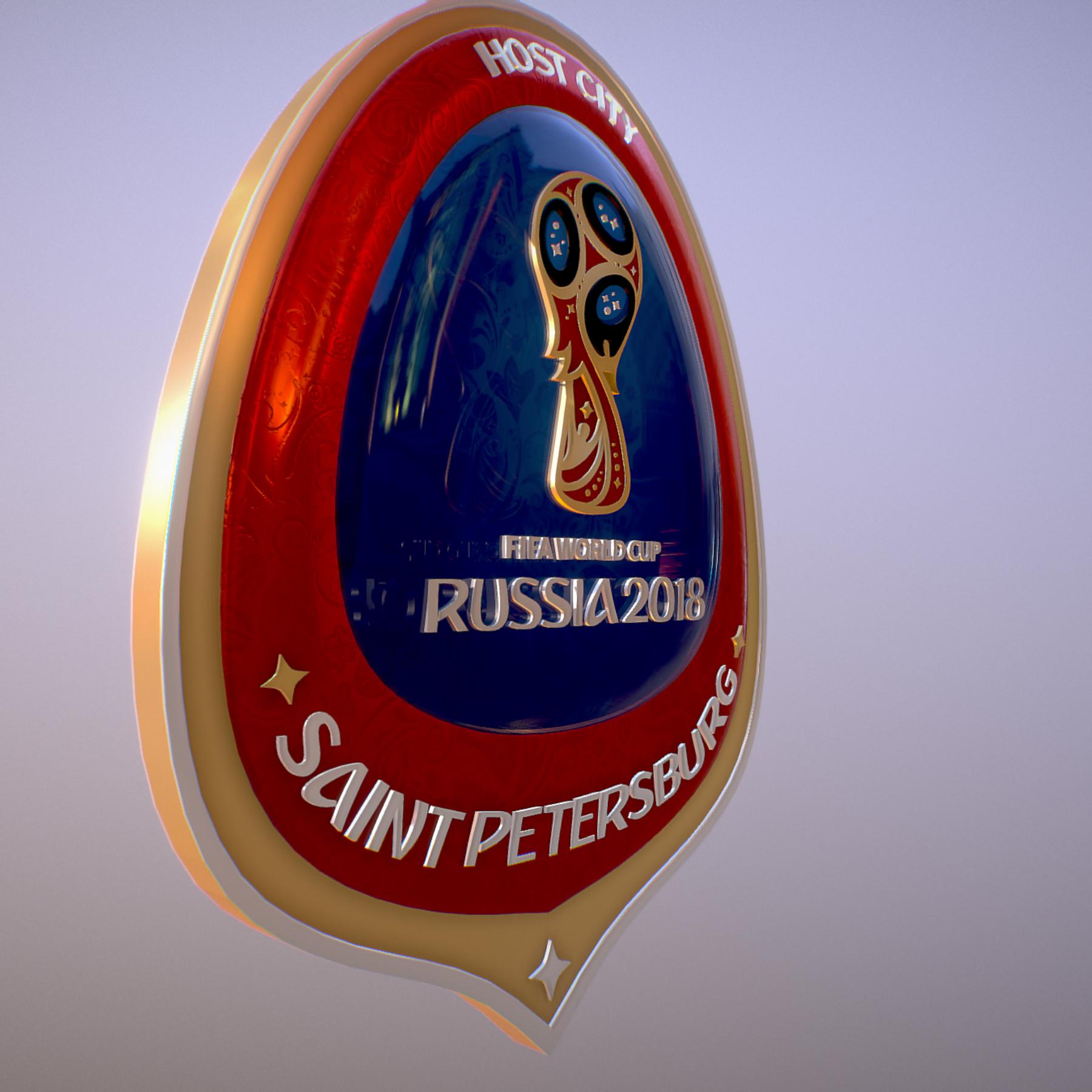 saint-petersburg host city russia 2018 symbol 3d model max  fbx jpeg jpg ma mb obj 271679