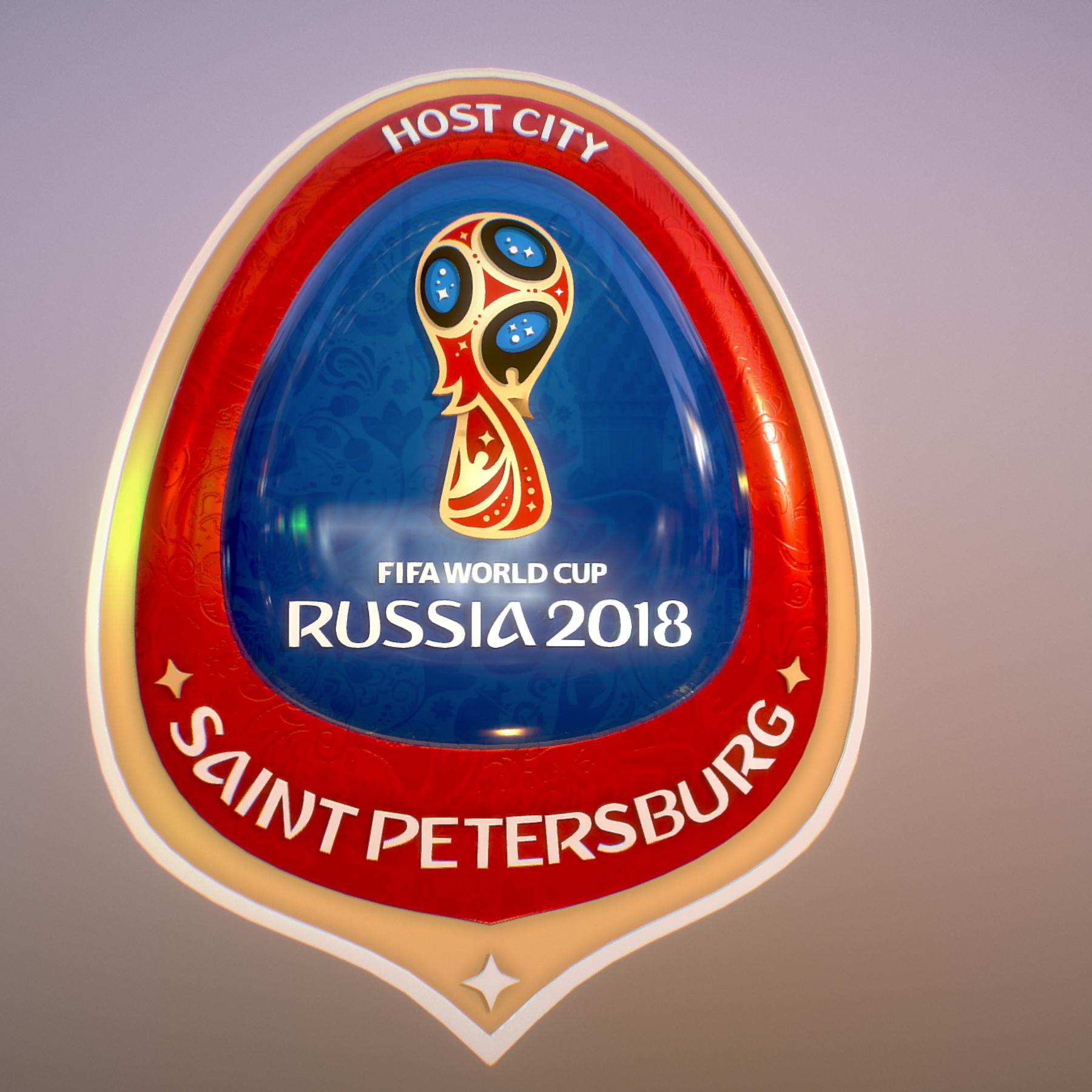 saint-petersburg host city russia 2018 symbol 3d model max  fbx jpeg jpg ma mb obj 271680