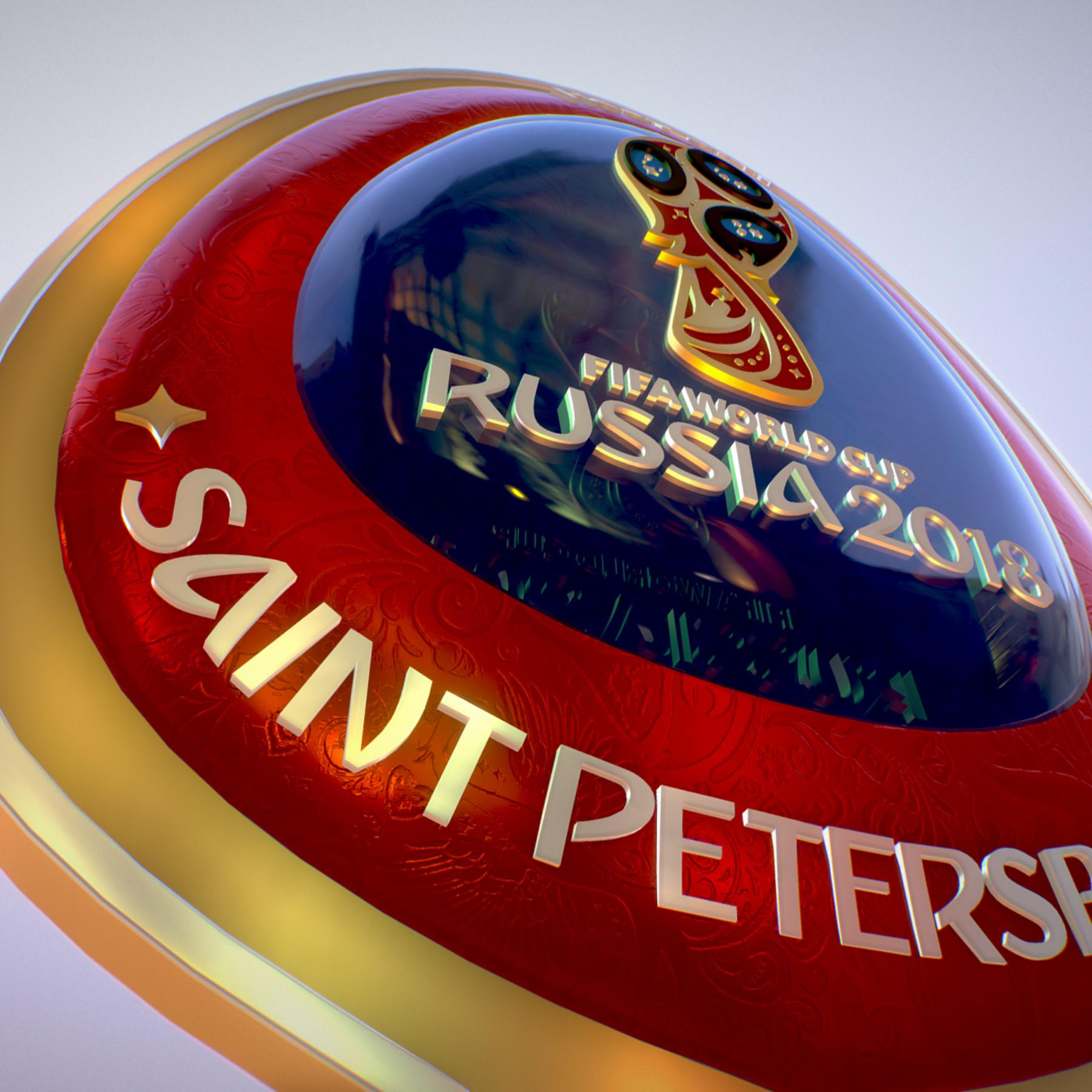 saint-petersburg host city russia 2018 symbol 3d model max  fbx jpeg jpg ma mb obj 271684
