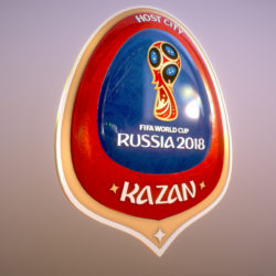 Kazan Host City World Cup Russia 2018 Symbol 3d model 0
