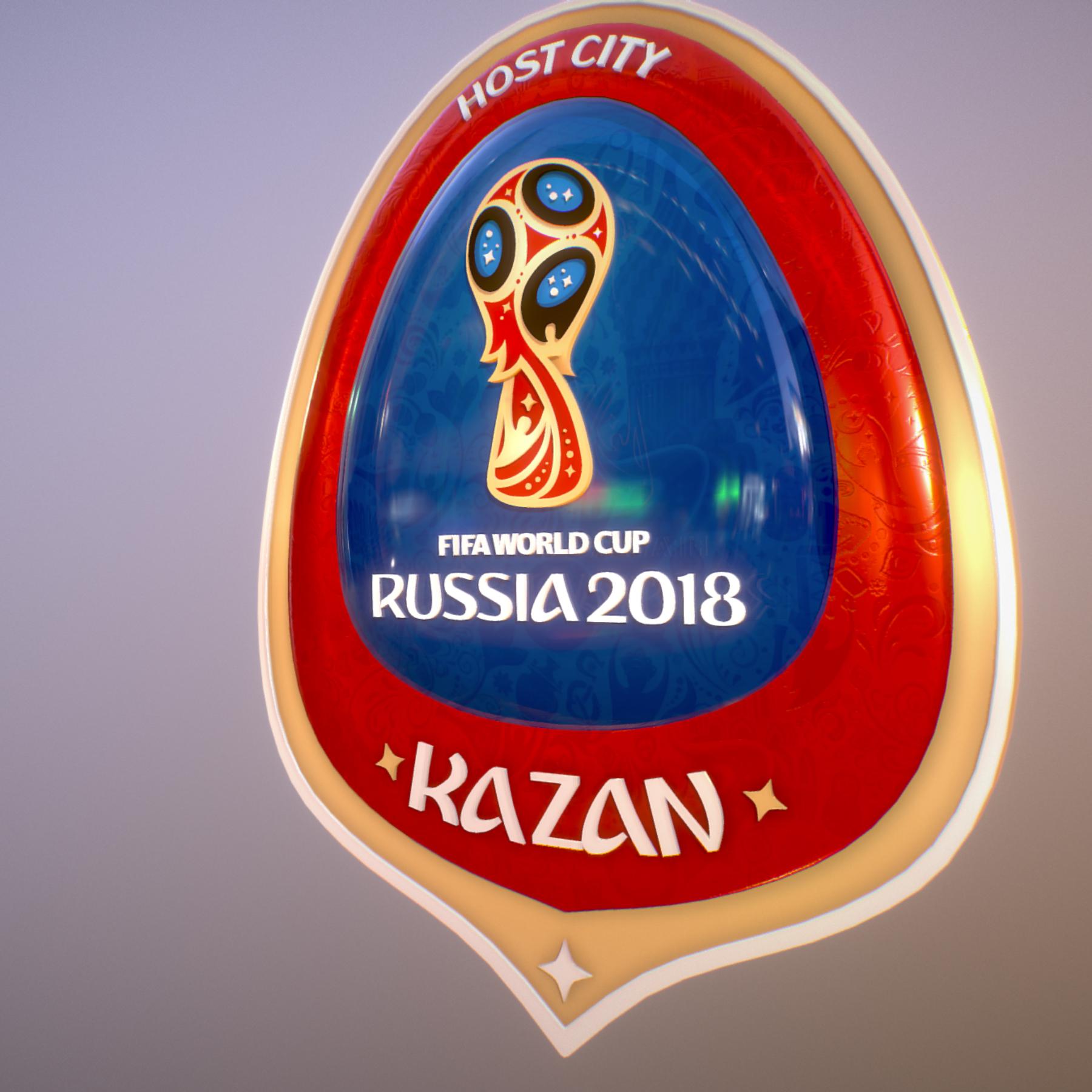 kazan host city world cup russia 2018 symbol 3d model max  fbx jpeg jpg ma mb obj 271691