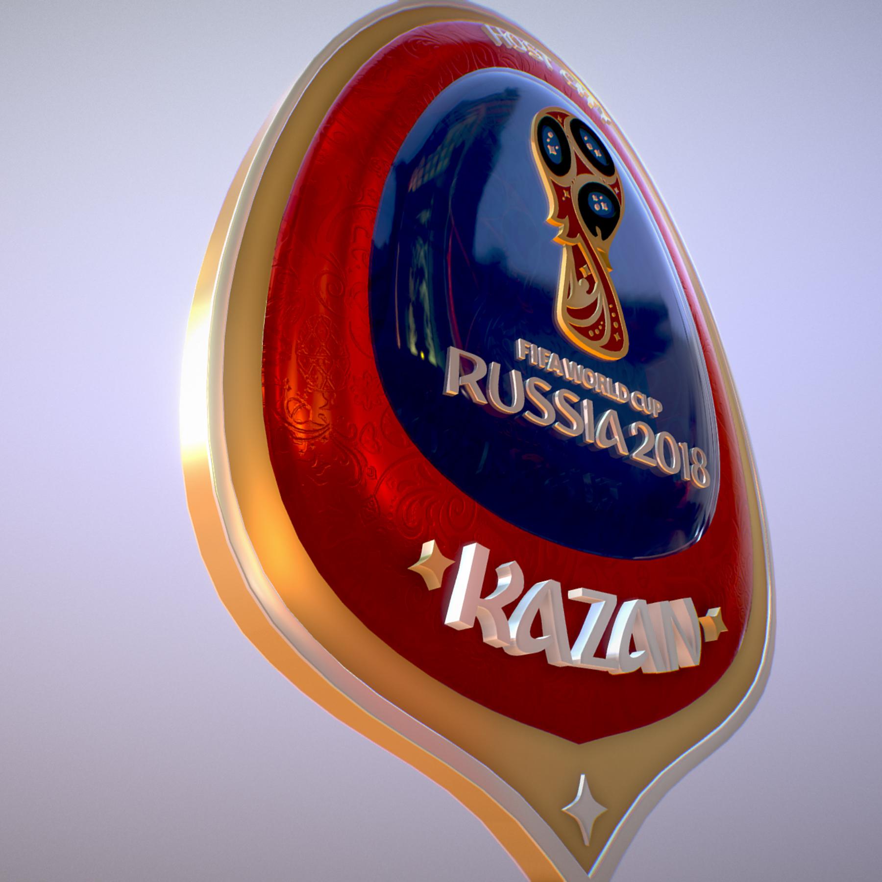 kazan host city world cup russia 2018 symbol 3d model max  fbx jpeg jpg ma mb obj 271697