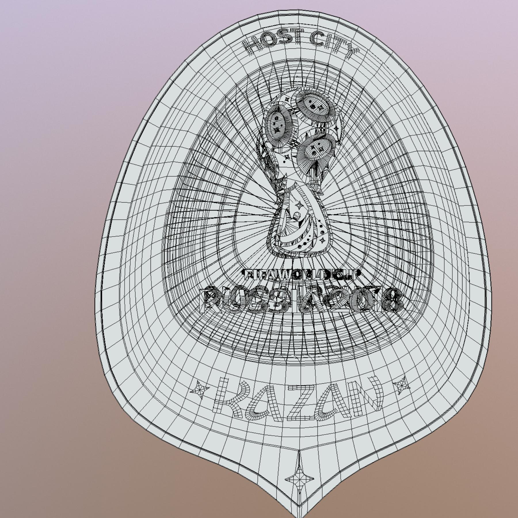 kazan host city world cup russia 2018 symbol 3d model max  fbx jpeg jpg ma mb obj 271704