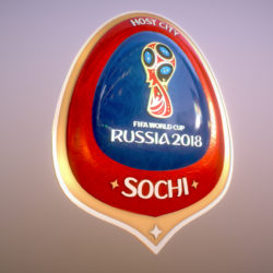 Sochi Host City World Cup Russia 2018 Symbol 3d model 0