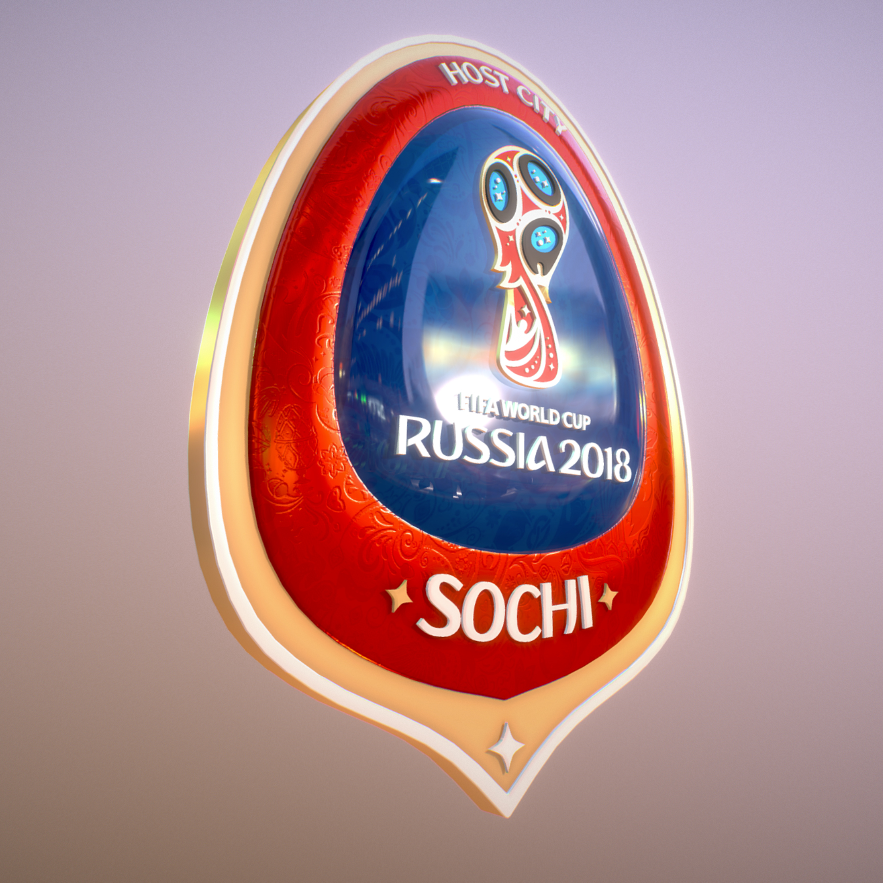 sochi host city world cup russia 2018 symbol 3d model max  fbx ma mb obj 271709