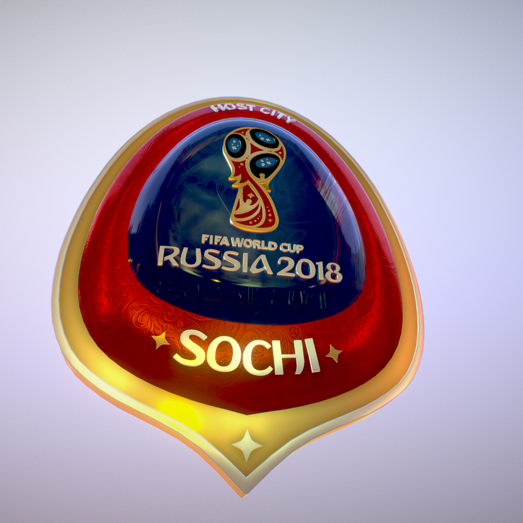 sochi host city world cup russia 2018 symbol 3d model max  fbx ma mb obj 271712