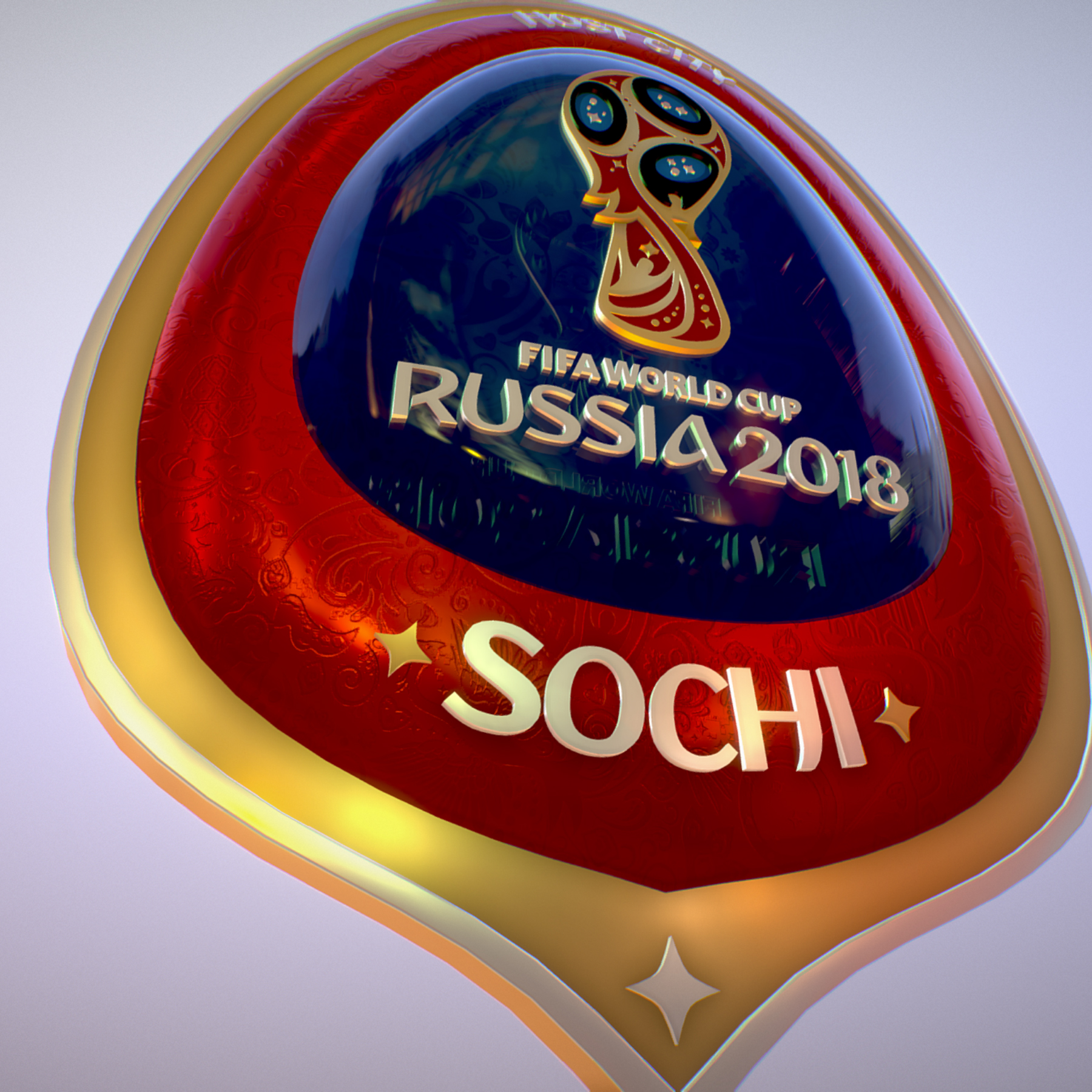 sochi host city world cup russia 2018 symbol 3d model max  fbx ma mb obj 271713