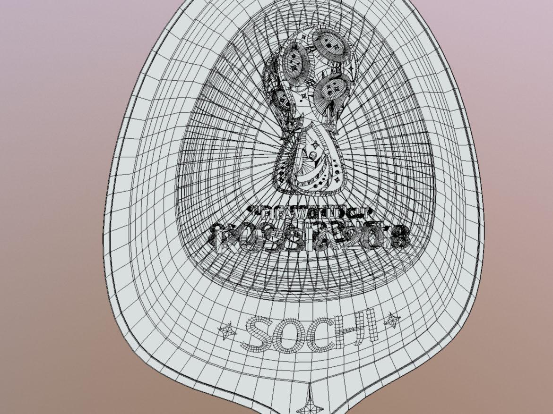 Sochi Host City World Cup Russia 2018 Symbol 3d model 0