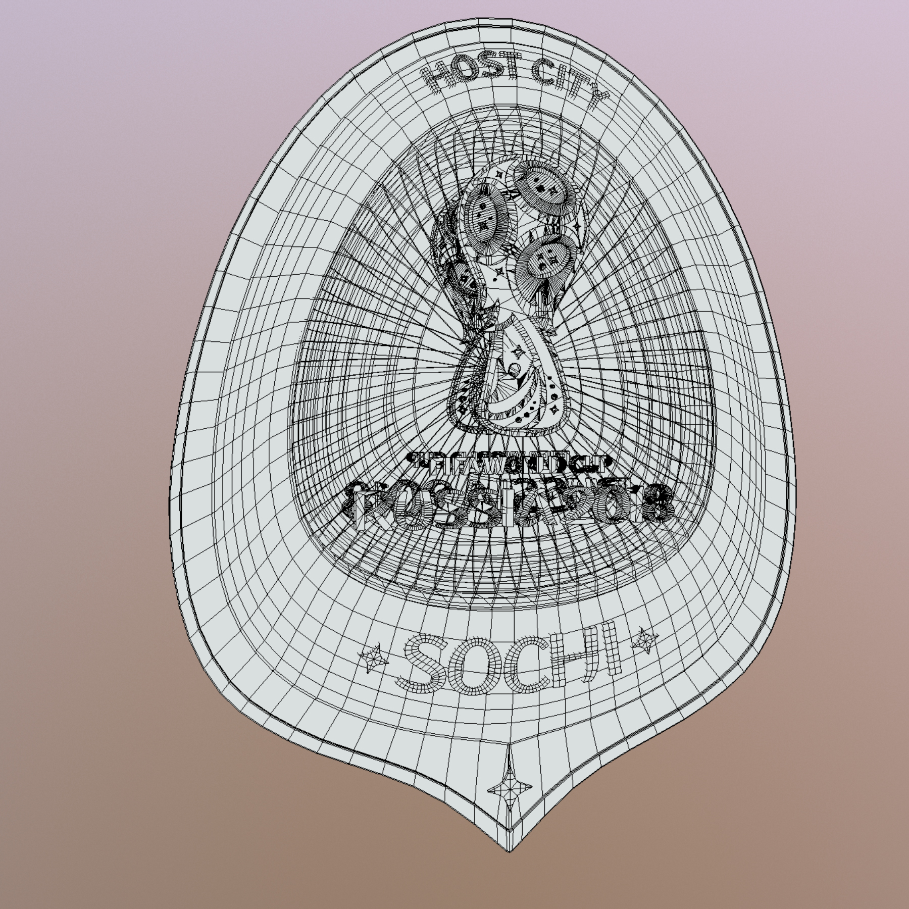 sochi host city world cup russia 2018 symbol 3d model max  fbx ma mb obj 271721