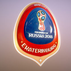 Ekaterinburg City World Cup Russia 2018 Symbol 3d model 0