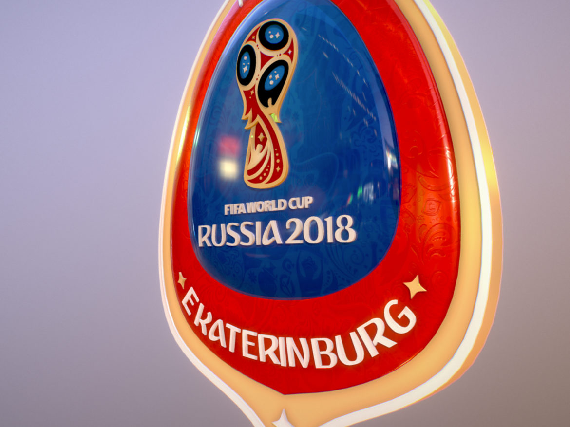 Ekaterinburg City World Cup Russia 2018 Symbol 3d model  max 3ds max plugin fbx jpeg ma mb obj