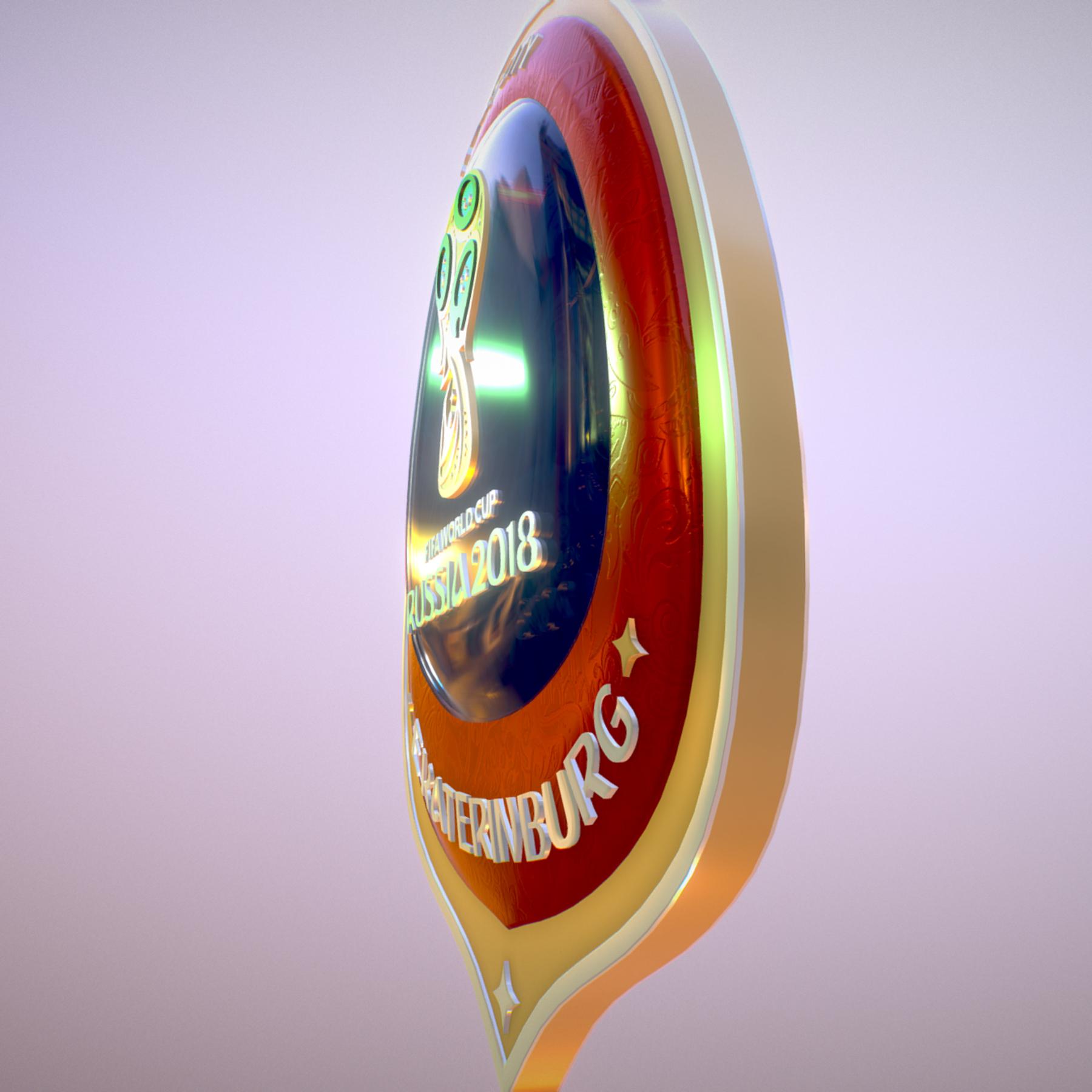 ekaterinburg city world cup russia 2018 symbol 3d model max  fbx jpeg jpg ma mb obj 271736