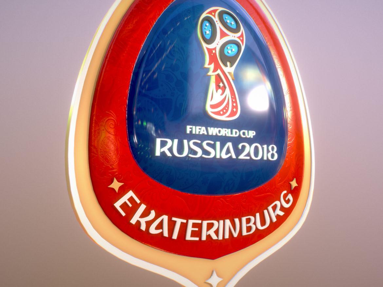 Ekaterinburg City World Cup Russia 2018 Symbol 3d model 0