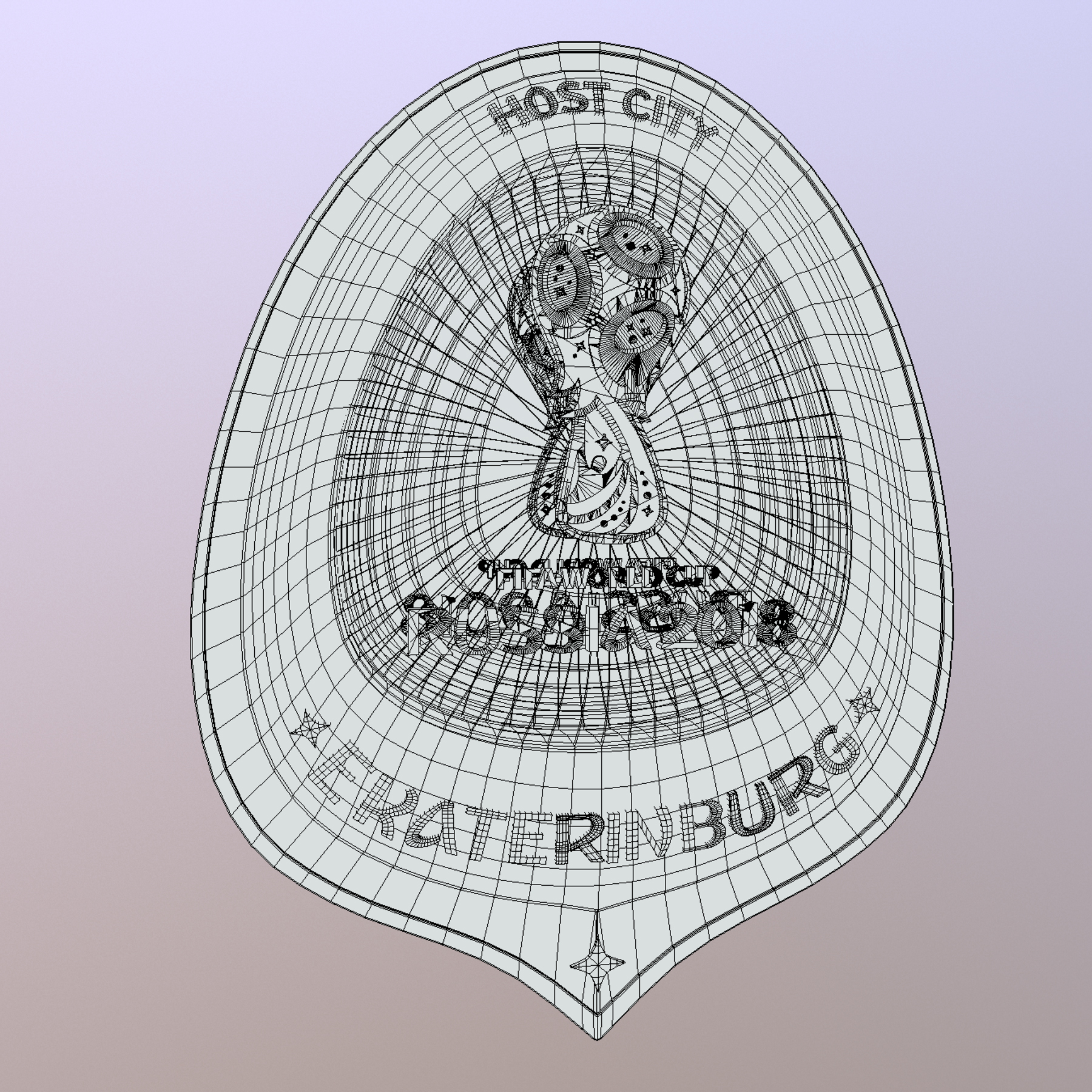 ekaterinburg city world cup russia 2018 symbol 3d model max  fbx jpeg jpg ma mb obj 271743