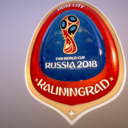 Kaliningrad City World Cup Russia 2018 Symbol 3d model 0