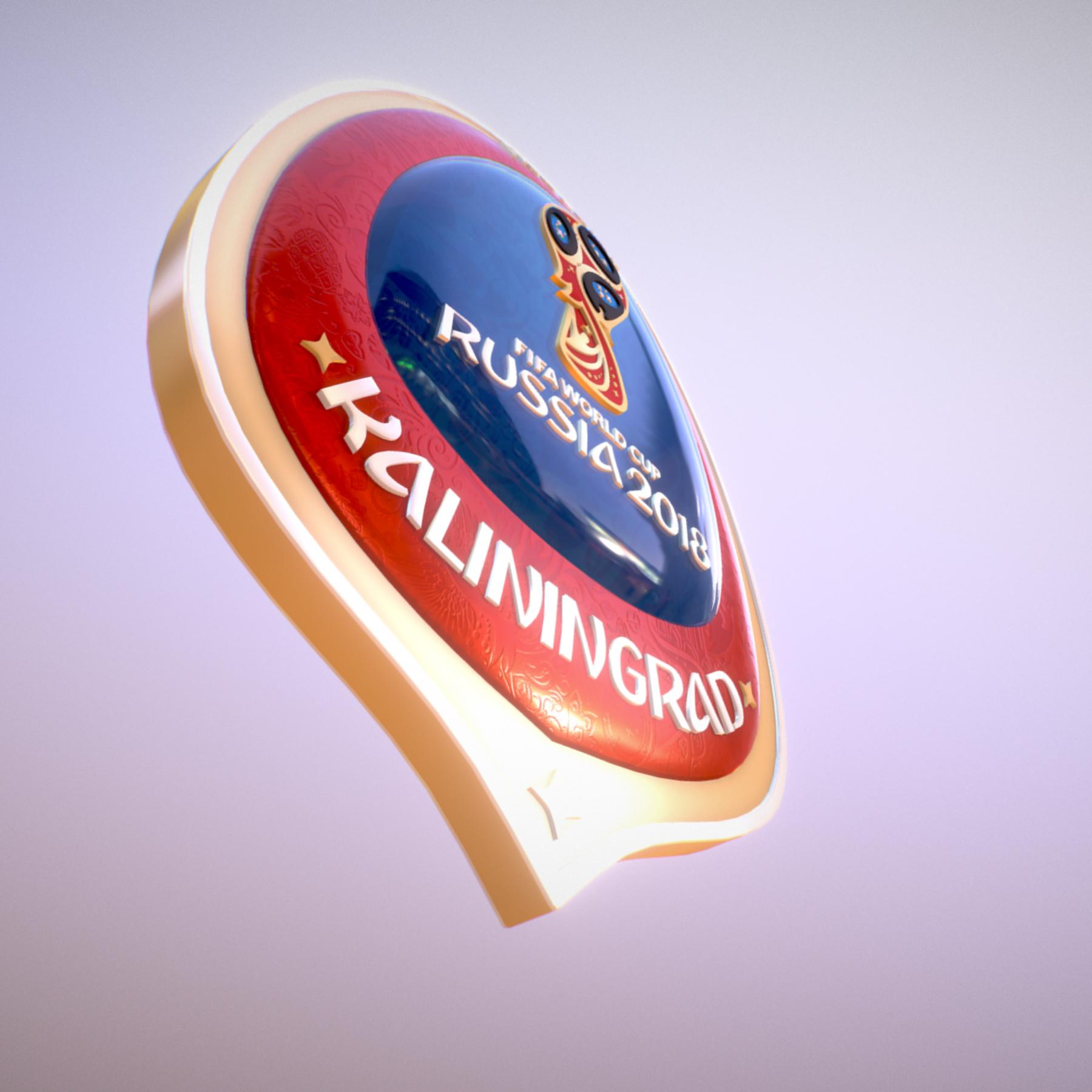 Kaliningrad City World Cup Russia 2018 Symbol 3d model max 3ds max plugin fbx jpeg ma mb obj 271757