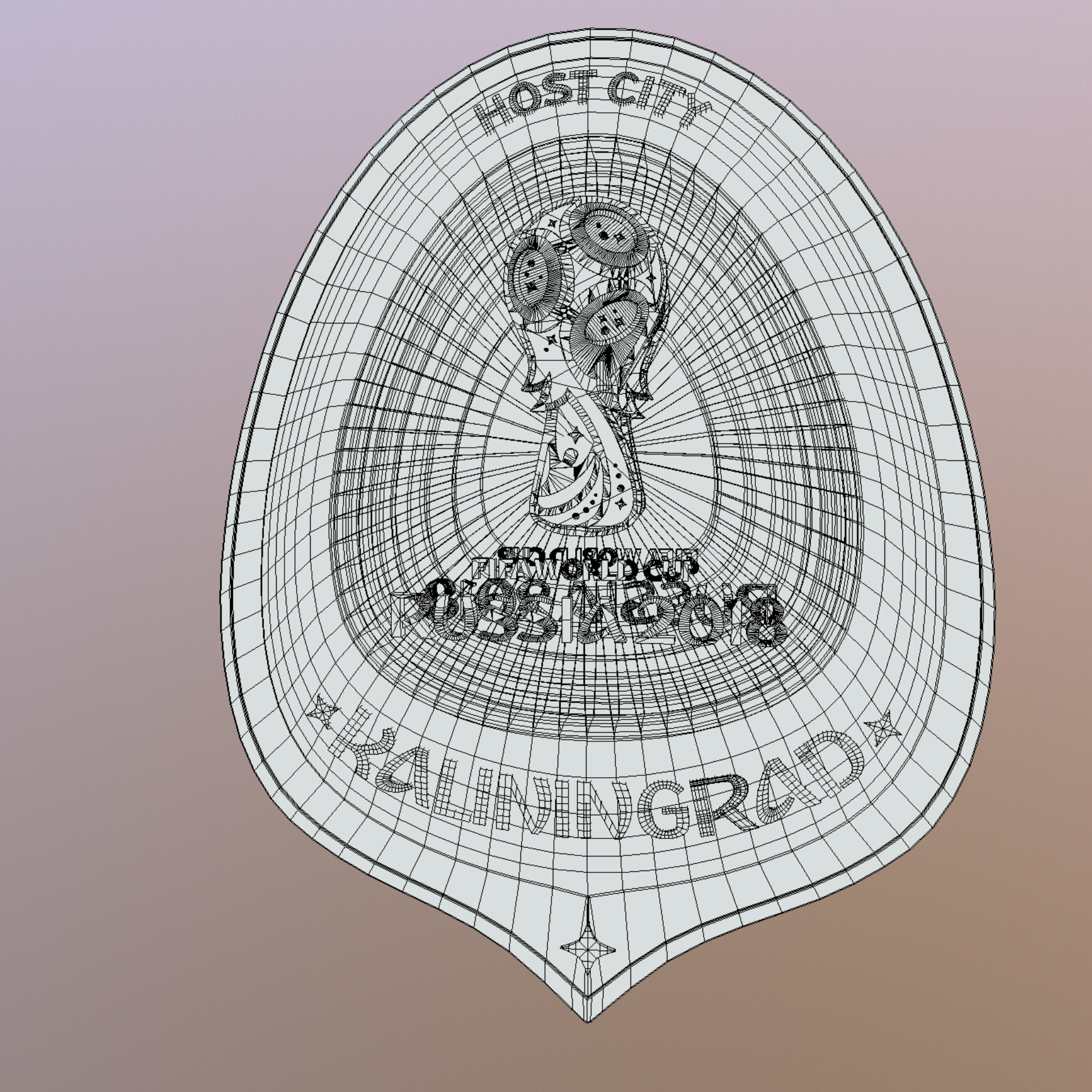 kaliningrad city world cup Rusija 2018 simbol 3d model max fbx jpeg jpg ma mb obj 271766