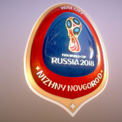 Nizhny Novgorod Host City World Cup Russia 2018 3d model 0