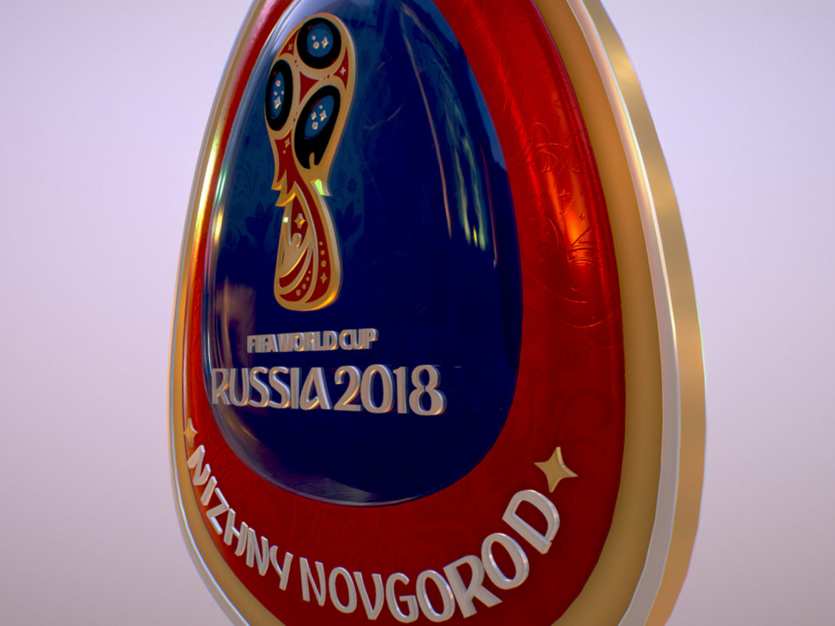 Nizhny Novgorod Host City World Cup Russia 2018 3d model  max 3ds max plugin fbx jpeg ma mb obj