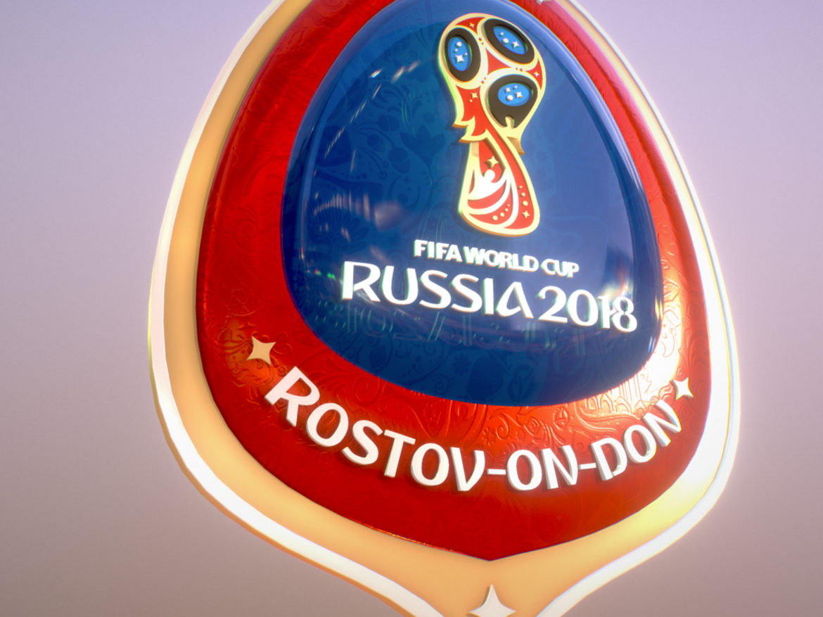 Rostov On Don Host City World Cup Russia 2018 3d model 0