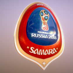 Samara Host City World Cup Russia 2018 Symbol 3d model 0
