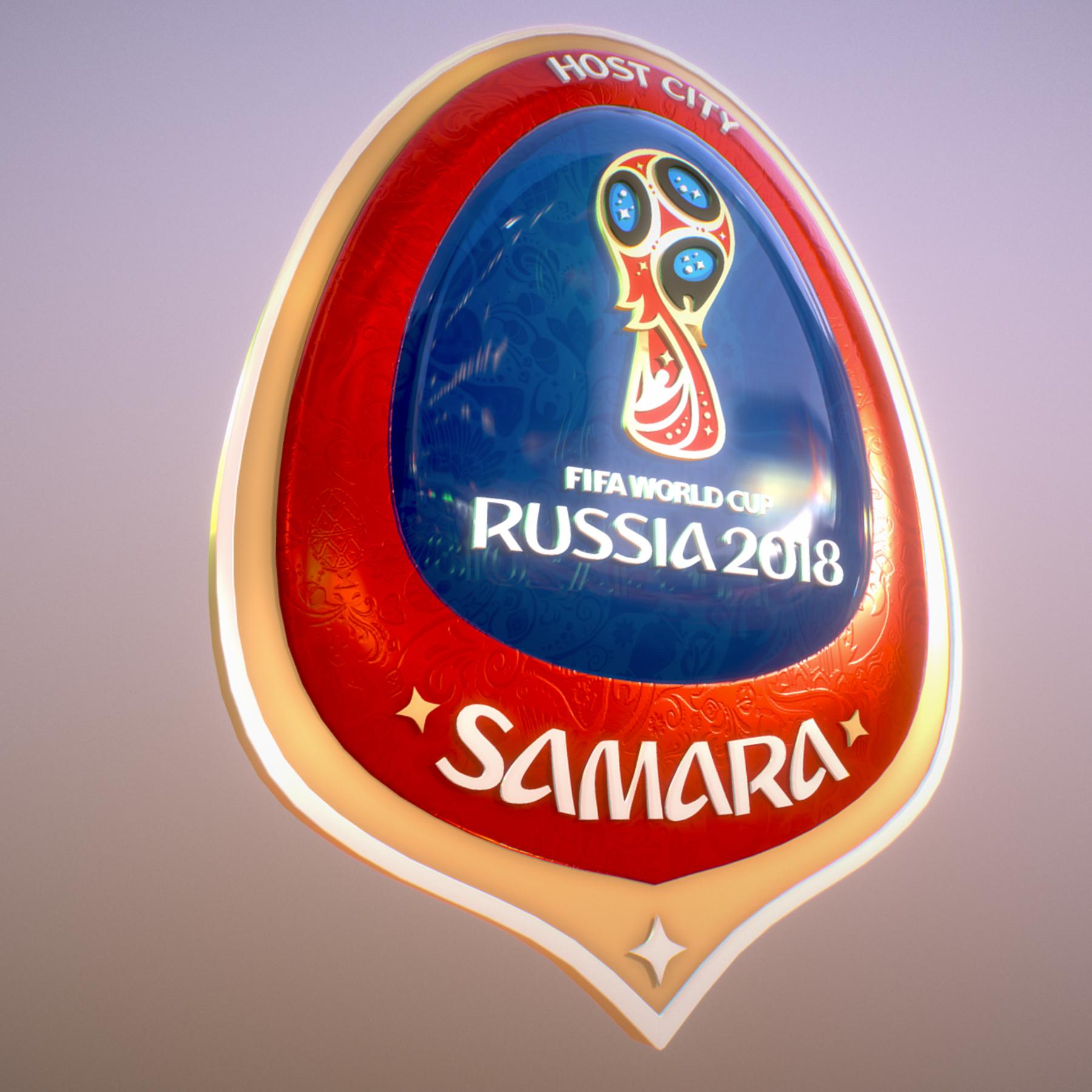 Samara Host City World Cup Russia 2018 Symbol 3D Model ...