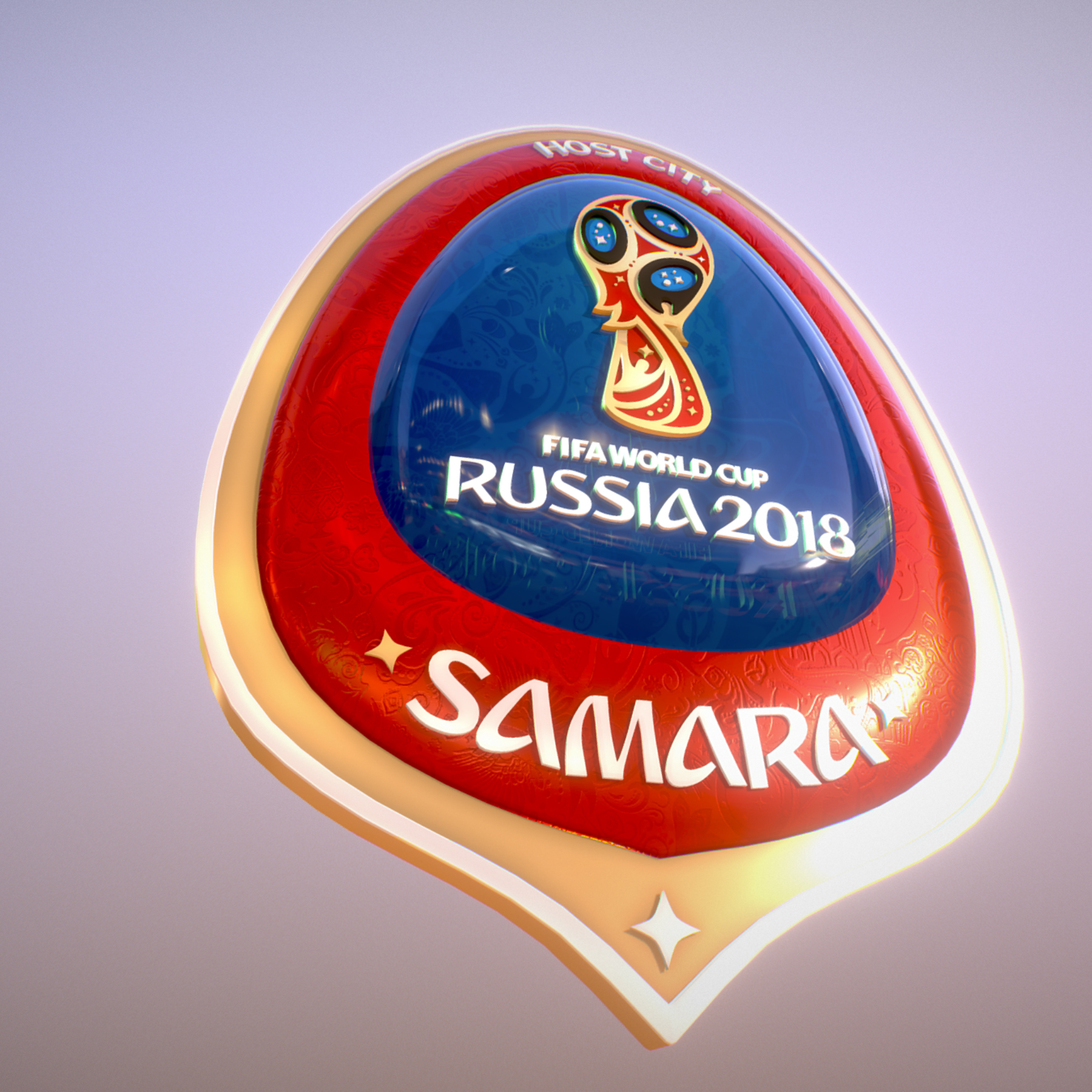 samara host city world cup russia 2018 symbol 3d model max  fbx jpeg jpg ma mb obj 271812