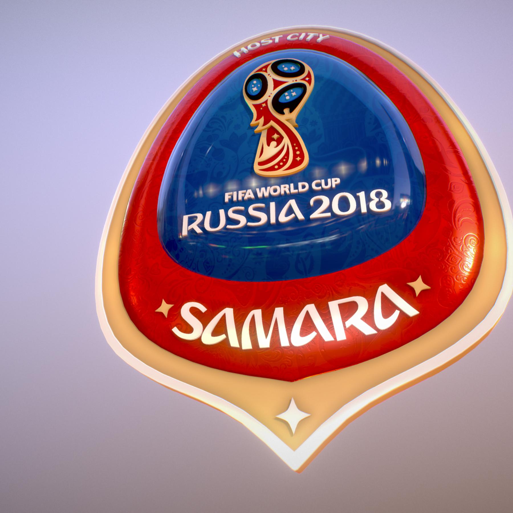 samara host city world cup russia 2018 symbol 3d model max  fbx jpeg jpg ma mb obj 271813