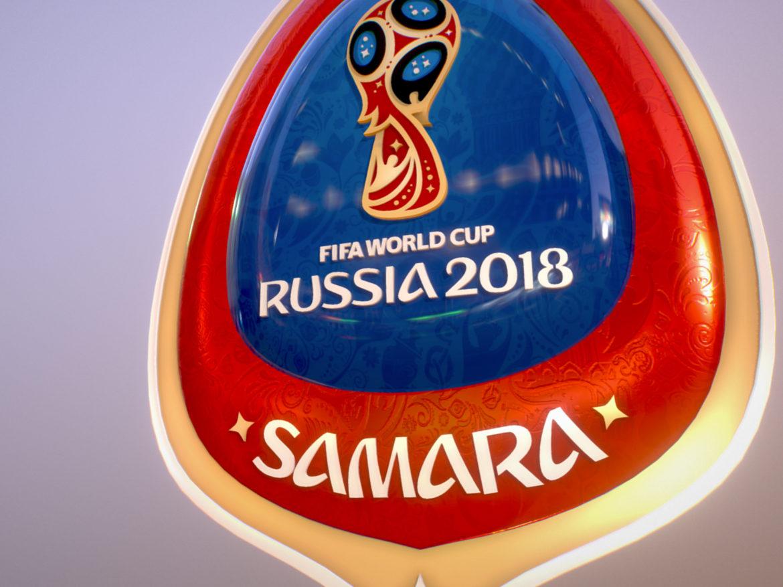 Samara Host City World Cup Russia 2018 Symbol 3d model 0