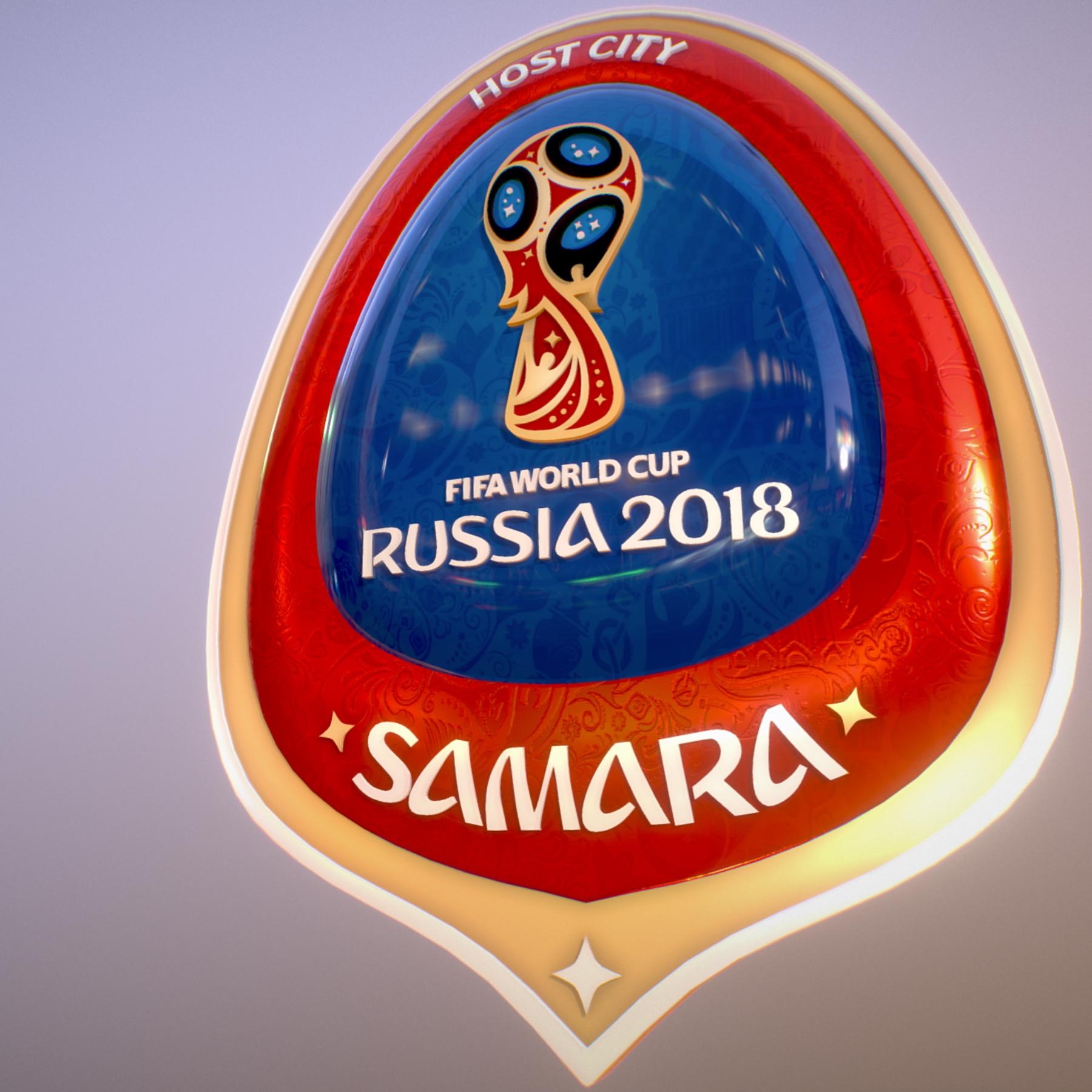 samara host city world cup russia 2018 symbol 3d model max  fbx jpeg jpg ma mb obj 271814