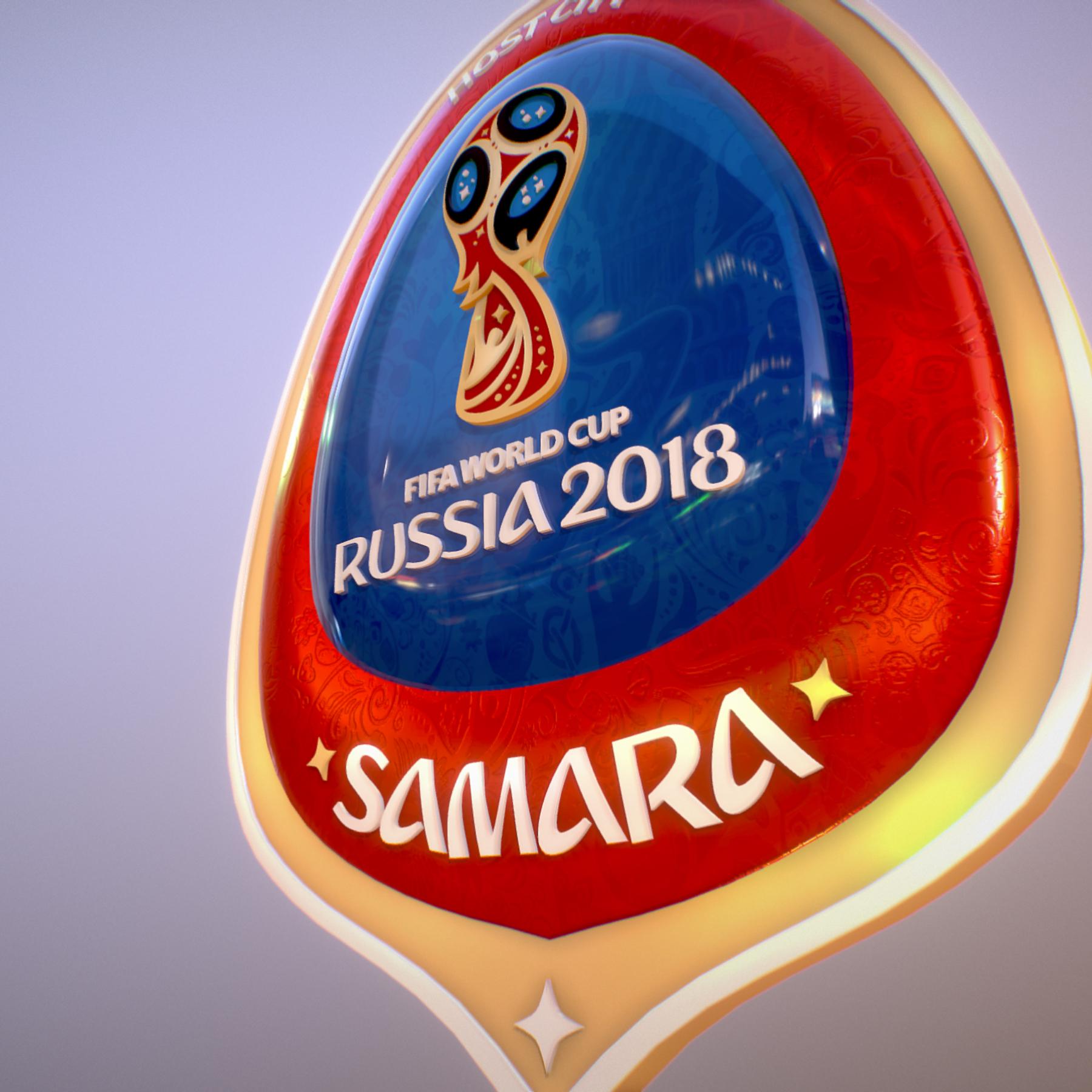 samara host city world cup russia 2018 symbol 3d model max  fbx jpeg jpg ma mb obj 271815