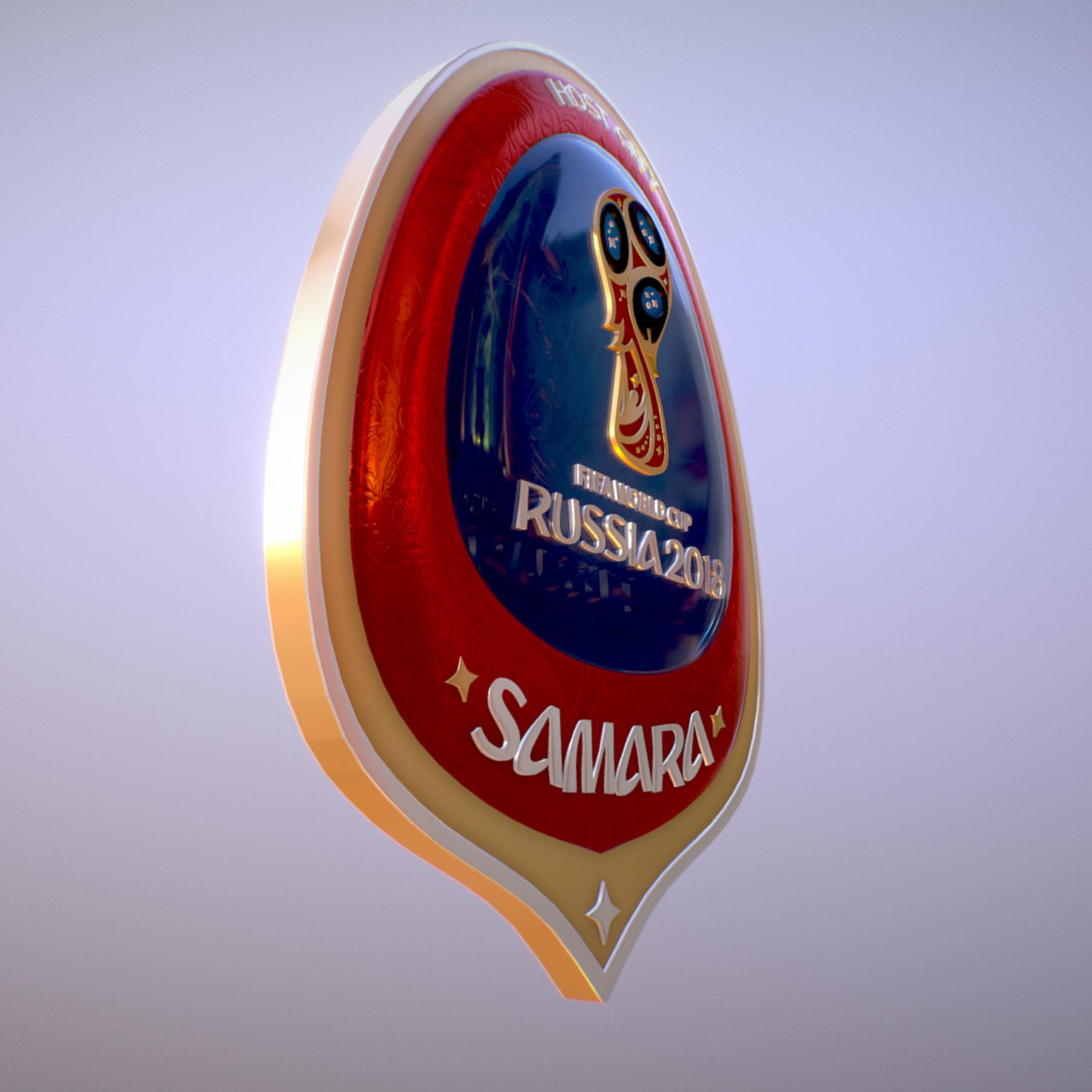 samara host city world cup russia 2018 symbol 3d model max  fbx jpeg jpg ma mb obj 271816