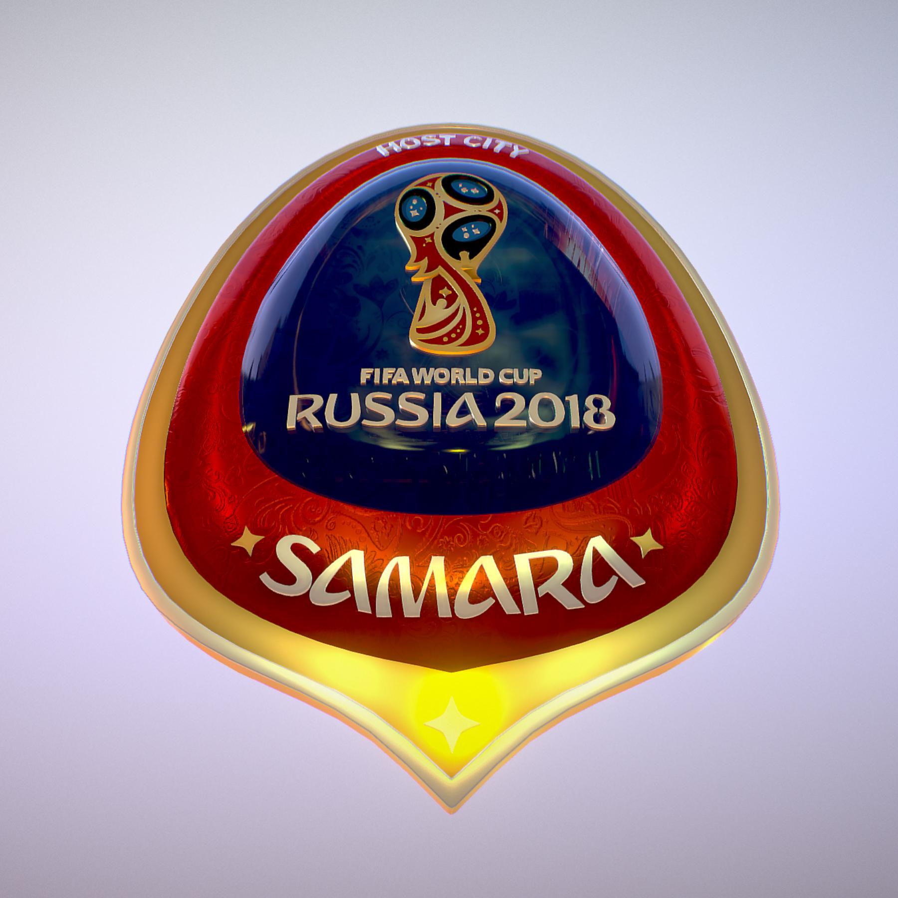 samara host city world cup russia 2018 symbol 3d model max  fbx jpeg jpg ma mb obj 271817