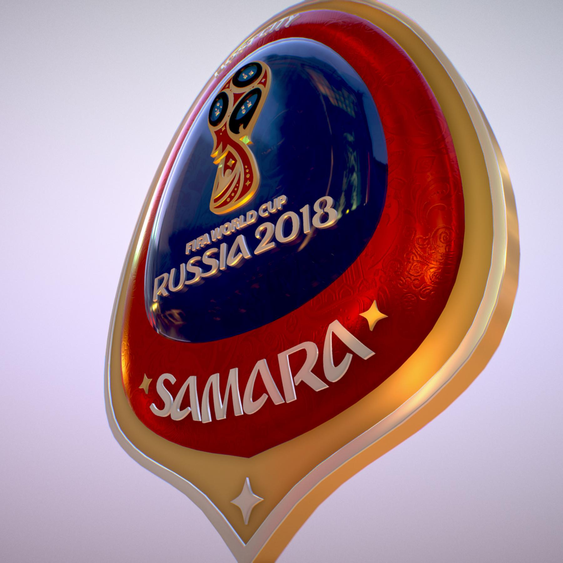 samara host city world cup russia 2018 symbol 3d model max  fbx jpeg jpg ma mb obj 271819