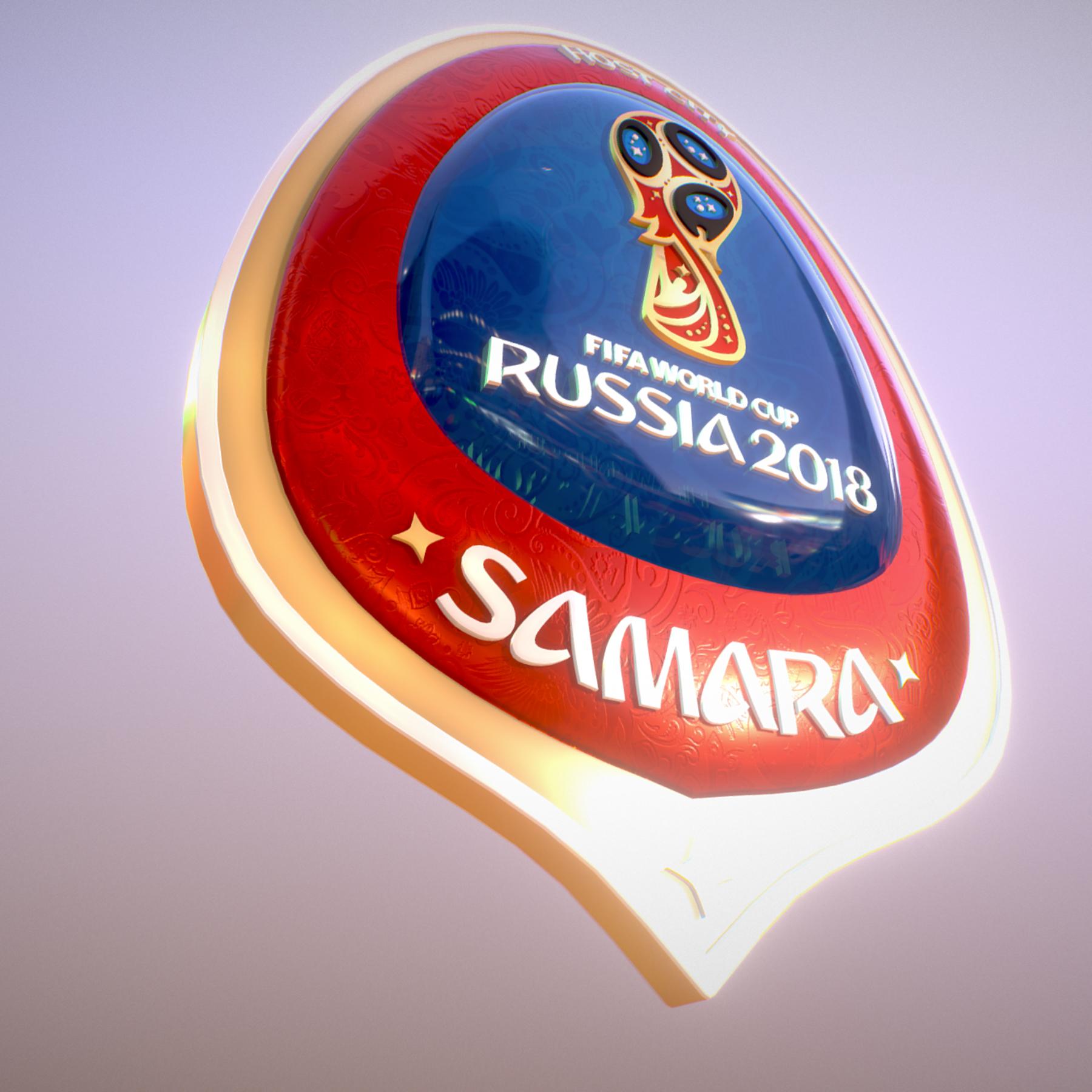 samara host city world cup russia 2018 symbol 3d model max  fbx jpeg jpg ma mb obj 271820